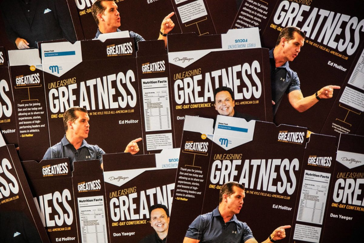 Unleashing Greatness cardboard packaging layed flat
